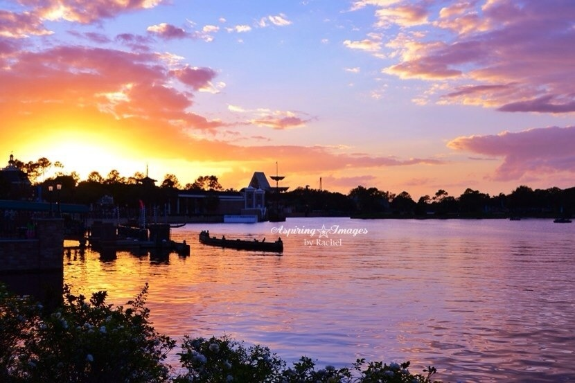 AspiringImagesbyRachel - Walt Disney World Epcot Showcase Sunset