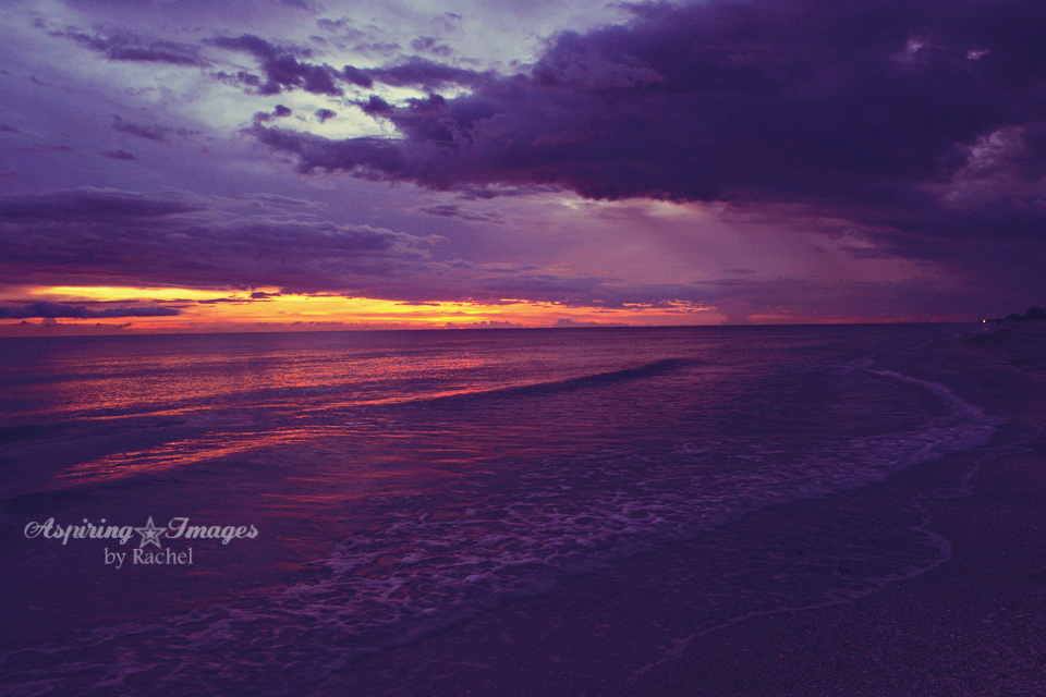 Venice Beach, Florida - Intense Purple Orange Sunset | Aspiring Images by Rachel