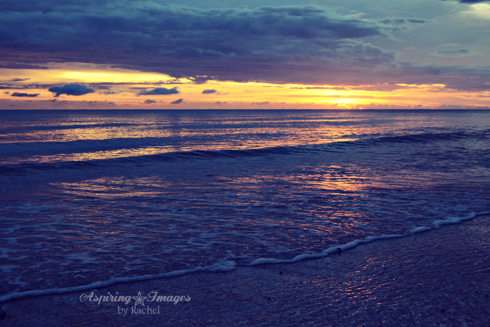 Venice Beach, Florida - Blue and Yellow Sunset | Aspiring Images by Rachel