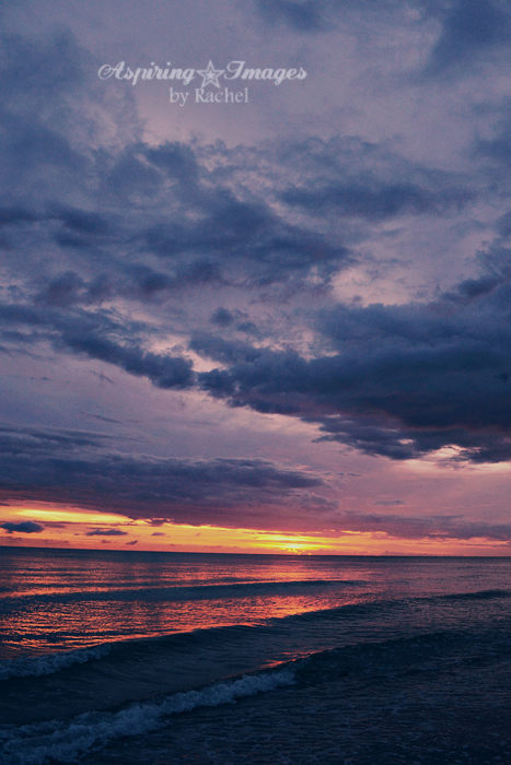 Venice Beach, Florida - Intense Blue and Purple Sunset | Aspiring Images by Rachel