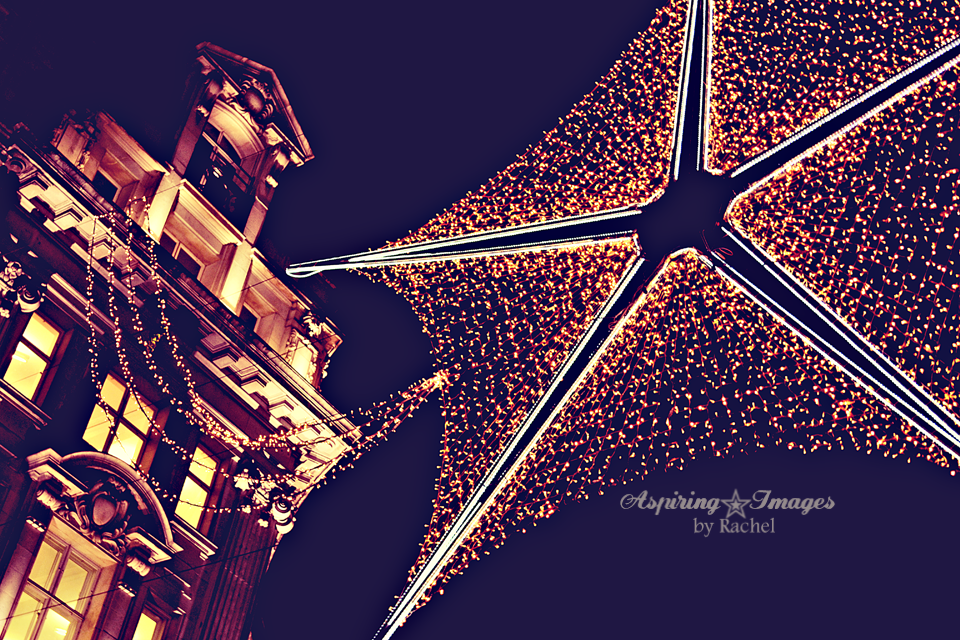 London Christmas Lights Big Star via Aspiring Images by Rachel