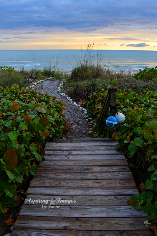 Beach Crosswalk Boardwalk at Sunset by Aspiring Images by Rachel