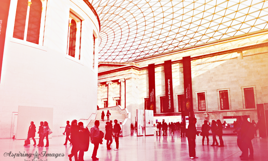 British Museum Entry in Daylight by Aspiring Images by Rachel