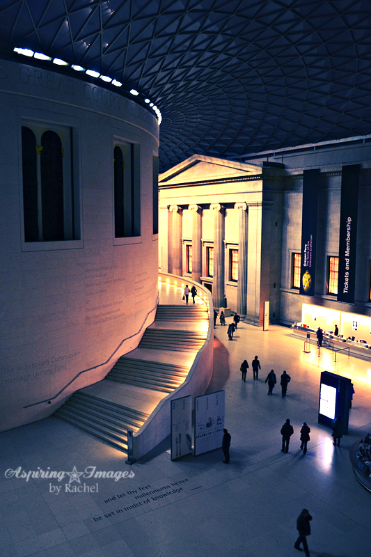 British Museum Interior Entrance at Night by Aspiring Images by Rachel