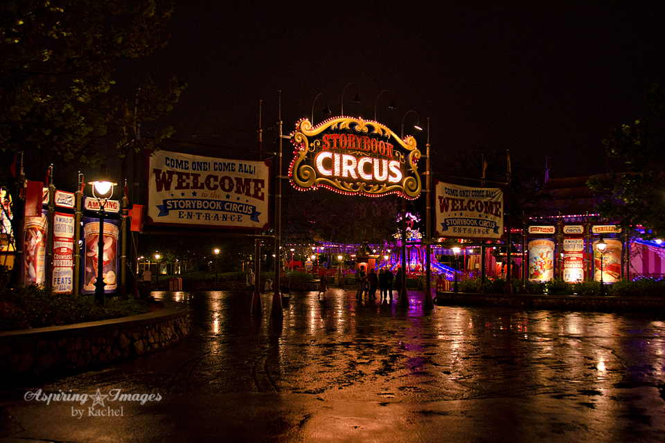 Magic Kingdom Storybook Circus Sign in the Rain by Aspiring Images by Rachel
