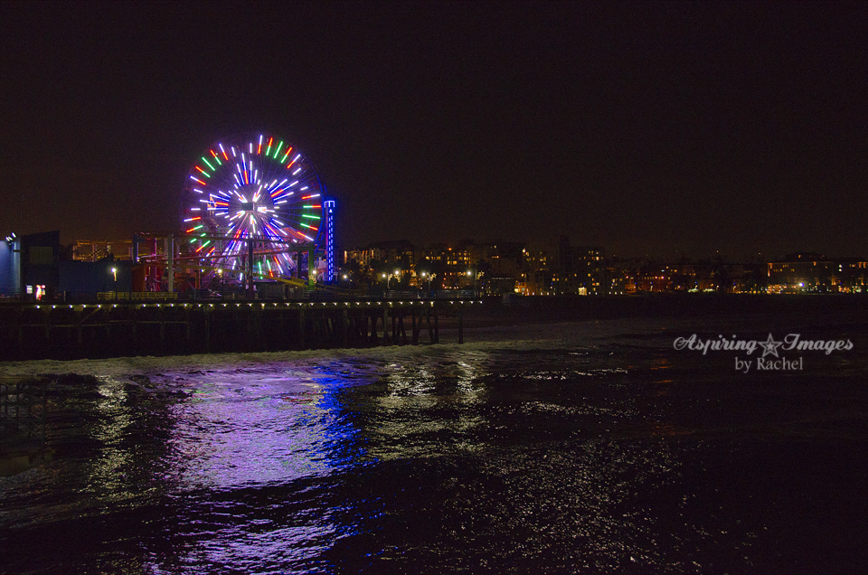 Mesmerizing Lights of Santa Monica Pier | California Beach Photography by Aspiring Images by Rachel