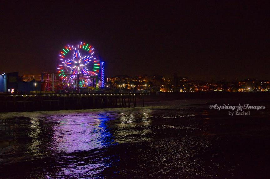 Mesmerizing Lights of Santa Monica Pier   California Beach Photography by Aspiring Images by Rachel