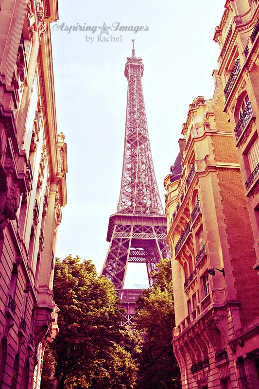 Paris - Eiffel Tower In Neighborhood by Aspiring Images by Rachel