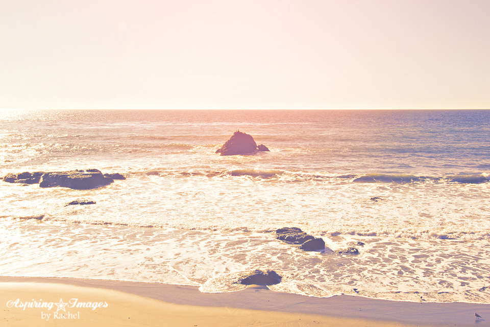 California Beach Pale Sunlight On The Ocean by Aspiring Images by Rachel