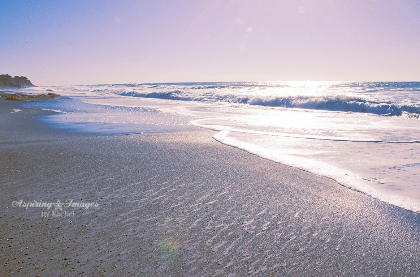 California Beach Sand and Waves by Aspiring Images by Rachel
