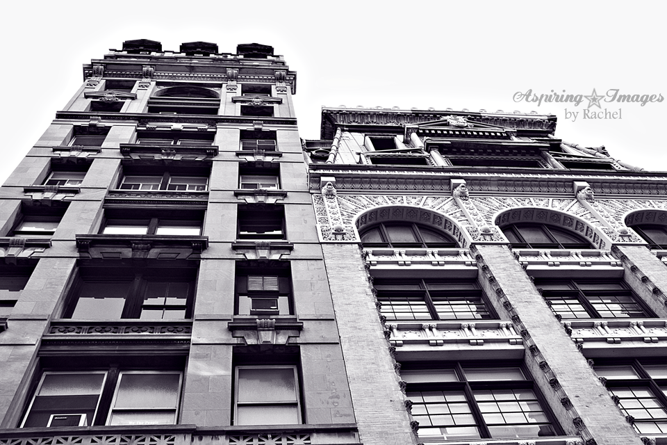 NYC Two Building Facades BW by Aspiring Images by Rachel