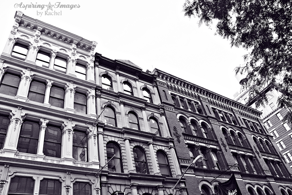 NYC Three Buiding Facades BW by Aspiring Images by Rachel