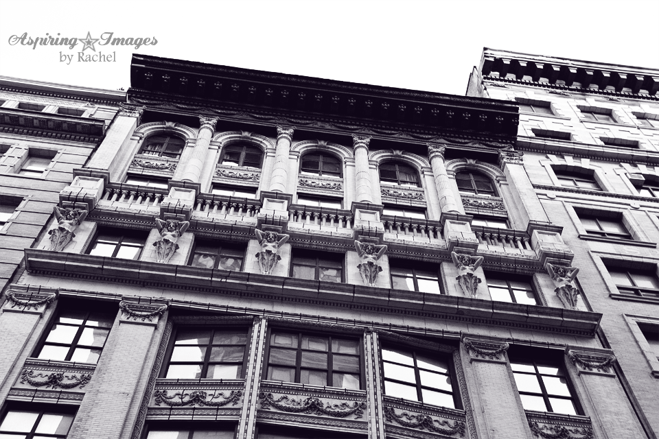 NYC Manhattan Vintage Building Facade BW by Aspiring Images by Rachel